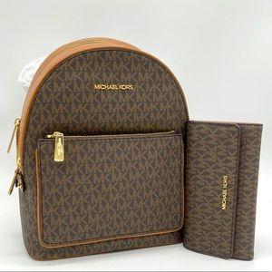 Michael Kors MD Adina Backpack & Trifold Wallet